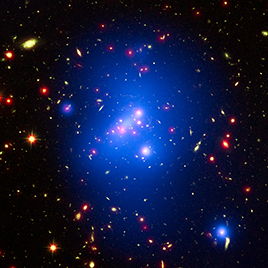 Hubble, Chandra, Spitzer Composite of Massive Galaxy Cluster IDCS J1426.5+3508